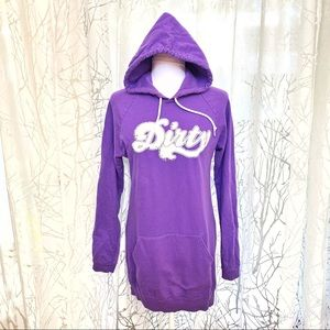 Dresses & Skirts - 👗Dirty purple hooded sweater dress
